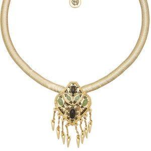 house of harlow // aztec stone/fringe gold choker